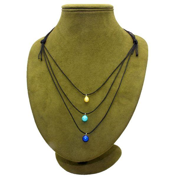 Trabajo a mano creativo colorido perla colgante de cuero DIY agua dulce joyería de perlas al por mayor