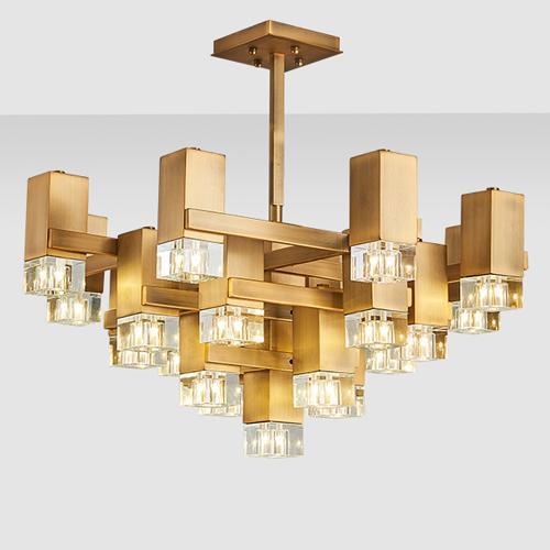 New design luxury royal led pendant lamps crystal chandeliers light elegant creative led gold pendant lights for restaurant club bar duplex