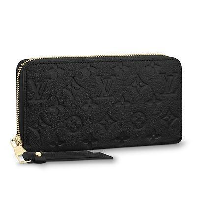 2019 ZIPPY WALLET M61864 Embossing black Real Caviar Lambskin Chain Flap Bag LONG CHAIN WALLETS KEY CARD HOLDERS PURSE CLUTCHES EVENING