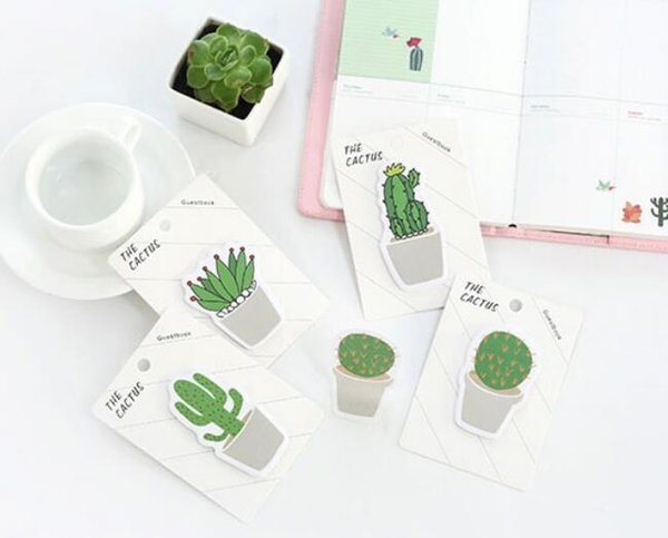 best selling New 30 pages pack Fresh Cactus Love Memo Pad Sticky Notes Memo Notebook Stationery Papelaria Escolar School Supplies