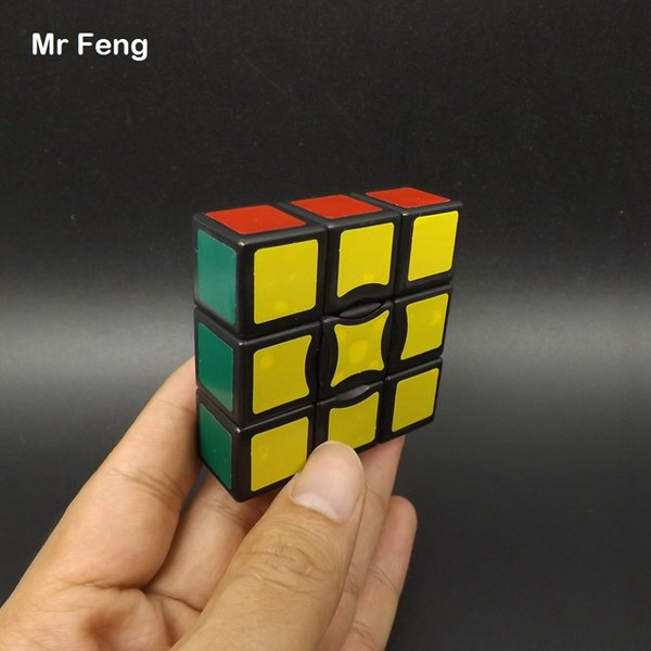 Black One Layer Strange Magic Cube Twist Puzzle Brian Mind Toys Intelligence Game Toys For Children ( Model Number M133BSQ )