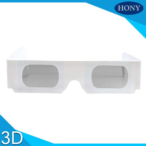1000pcs Wholesale Passive Paper 3D Glasses for RealD Universal Cinemas, Circular Polarized 3D Paper Glasses