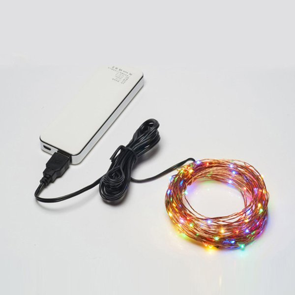 New light emitting diode copper wire lamp string colorful manual USB connector string home club decoration wholesale