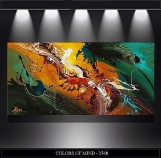 Colors of Mind Quality HandPainted / HD Print Morden Abstract Wall Art Olio su tela Home Decor su tela. Multipli formati / cornice Opzioni Ab267