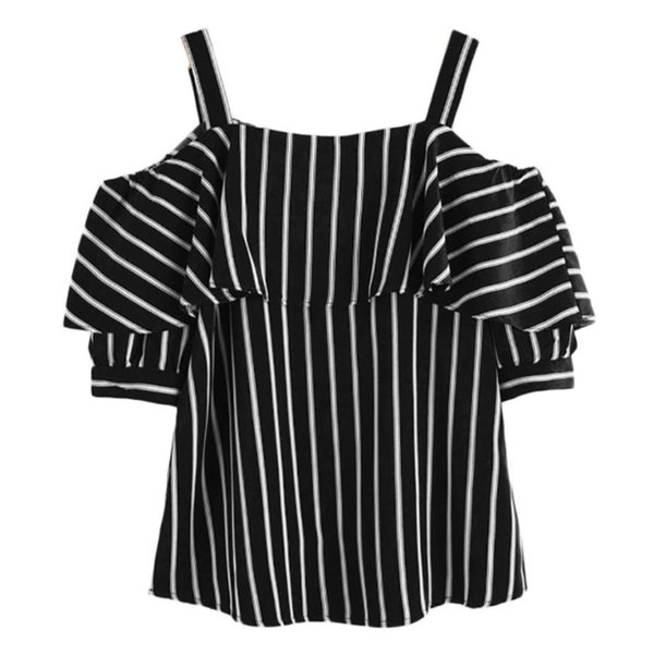T-shirt donna estate nuove magliette t-shirt manica corta novità Arrivi 2018 T-shirt donna spalle t-shirt senza spalline moda taglie forti XL