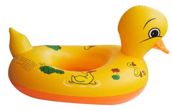Cute Yellow Duck Swimming Ring Kids Baby Child Inflatable Swimming laps Pool Swim Ring Seat Float Boat Water Sports