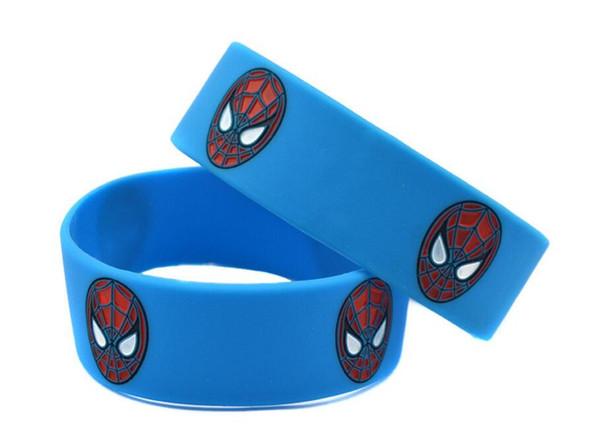 SPIDERMAN Silicone PARTY FAVOR Bracelet FILLER BLUE BLACK RED