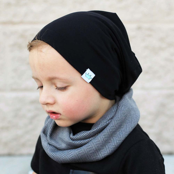Fashion Cute Cotton Hat Beanies For Newborn Baby Solid Color Caps Children Autumn Winter Warm Earmuff Colorful Knitted Skullies Caps