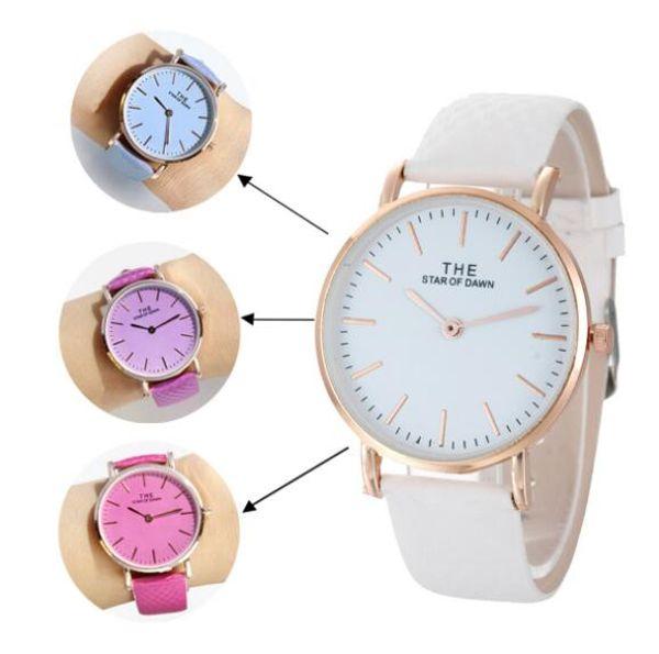 100pcs/ ultra-thin fashion simple scale solar thermal discoloration lady Geneva two stitch couple quartz student watch