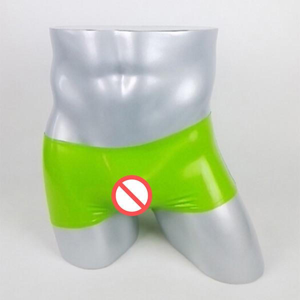 2018 hommes serrés à la main Sexy Costumes couleur unie Pantalons de Latex Hommes mince Pantalon Leggings Livraison Gratuite Livraison Rapide