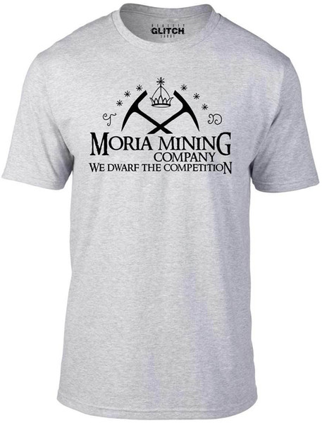 Men's Moria Mining Company T-Shirt - GIFT FILM MOVIE HOBBIT BOX SET COSTUME FUN Funny free shipping Unisex Casual tee gift