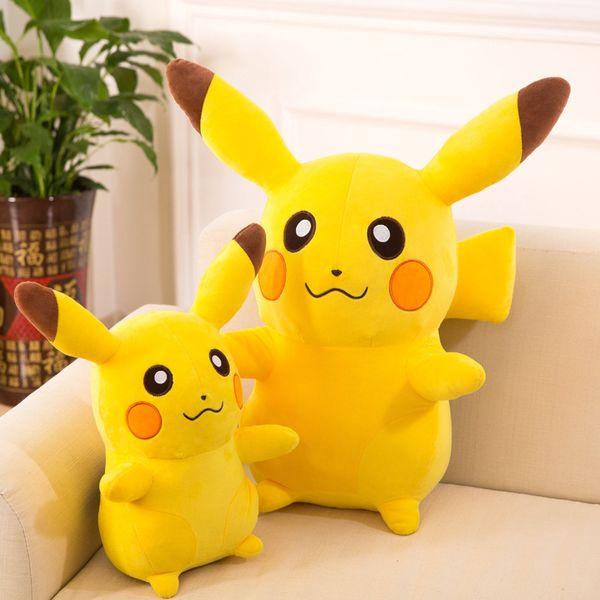 Hot Sales Creative Cartoon Elf Children Stuffed Plush Toys Soft Cotton Baby Pillow Novelty Cute Yellow Pikachu Animal Doll