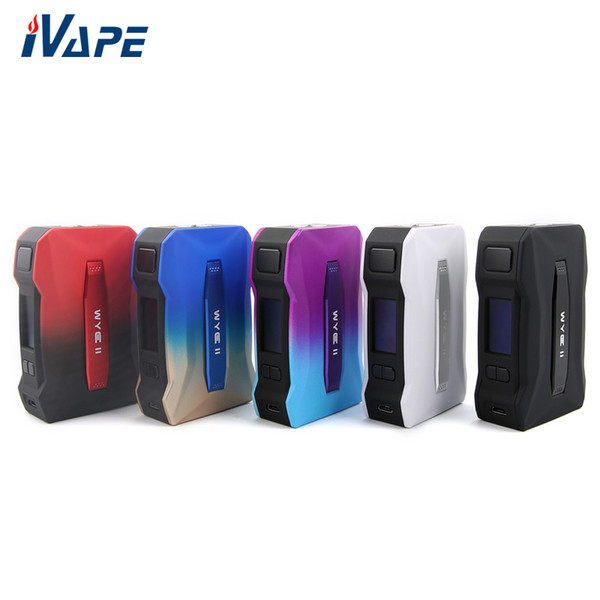 100% Original Tesla WYE 2 II 215W TC Box Mod Power by dual 18650 Battery with Advanced PC-ABS Material Smarter Chip Best for Resin Tank