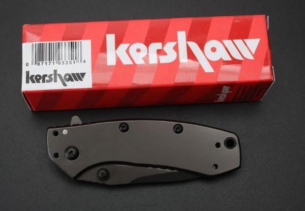 Kershaw 1555TI Tactical Knife Hinderer Design Flipper Camping Caza Supervivencia Pocket Knife Utility EDC Tool Envío gratis