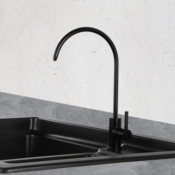 purifier, direct drinking water, pure faucet, kitchen washing basin sink 2 points interface, bright pearl black faucet
