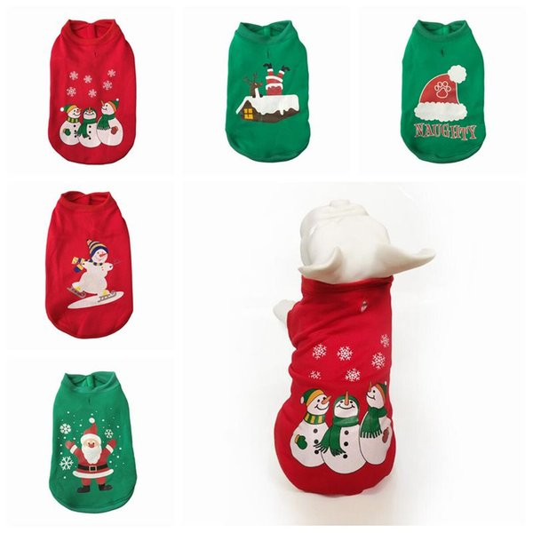 Pet Dog Party Holiday Clothes Christmass Costumes For Small Dogs Puppy Autumn Winter Pets Costumes Santa Dressing Coats Jackets