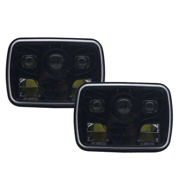 5x7 Proiettore 7x6 LED Faro DOT Kit Lampadina Sealed Beam 6000K Lampada sostituzione faro per Jeep Cherokee XJ Wrangler YJ Comanche MJ