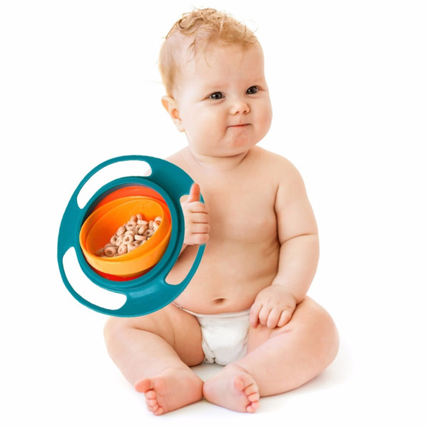 best selling Baby Feeding Dish Cute Baby Gyro Bowl Universal 360 Rotate Spill-Proof Bowl Food-grade PP Dishes Children's Baby Tableware