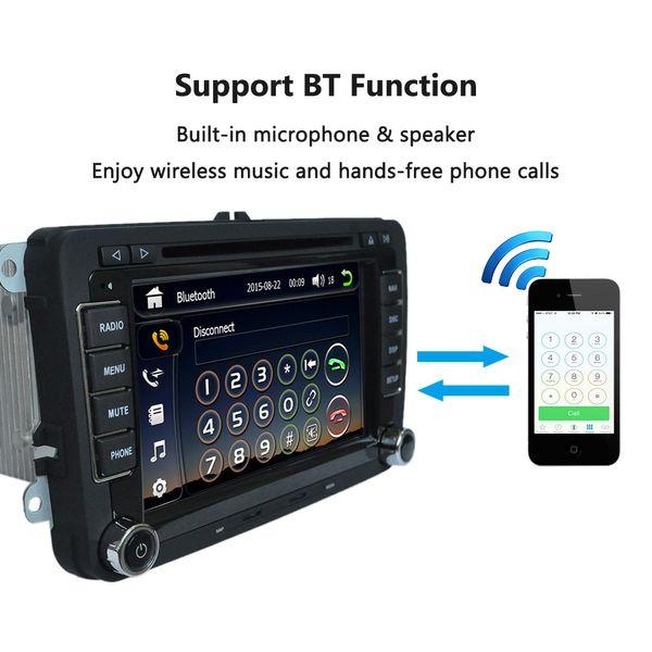 "Universal Car 7"" 1080P HD DVD Player GPS Navigation Bluetooth Car Radio 2 Din in Dash PC Stereo Head Unit for VW"