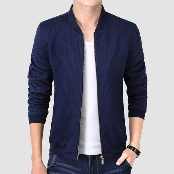 2017 New Bomber Jacket New  Solid Quality Slim Fit Cool Design Autumn Men Jaquetas Outwear Windbreaker Men Jackets
