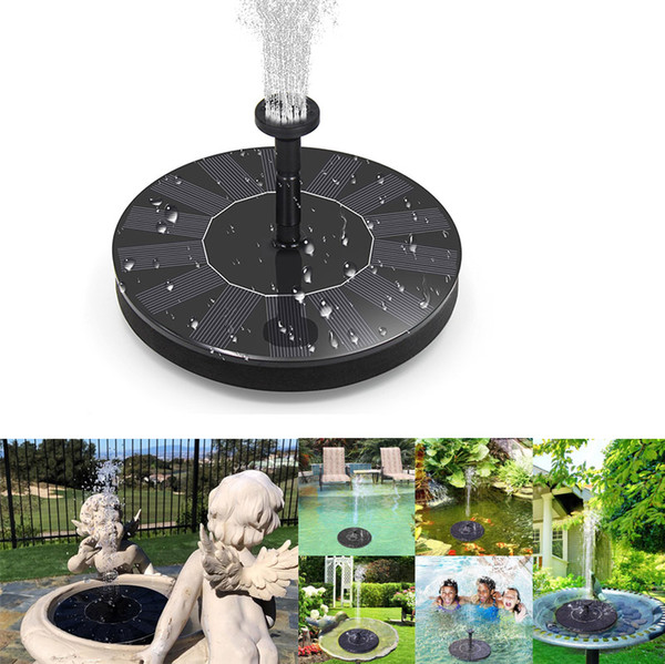 Solar Fountain Pump Free Standing Bird Bath Fountain Water Pump,1.4W Solar Outdoor Floating Fountain Pump Kit,for Garden, Pool
