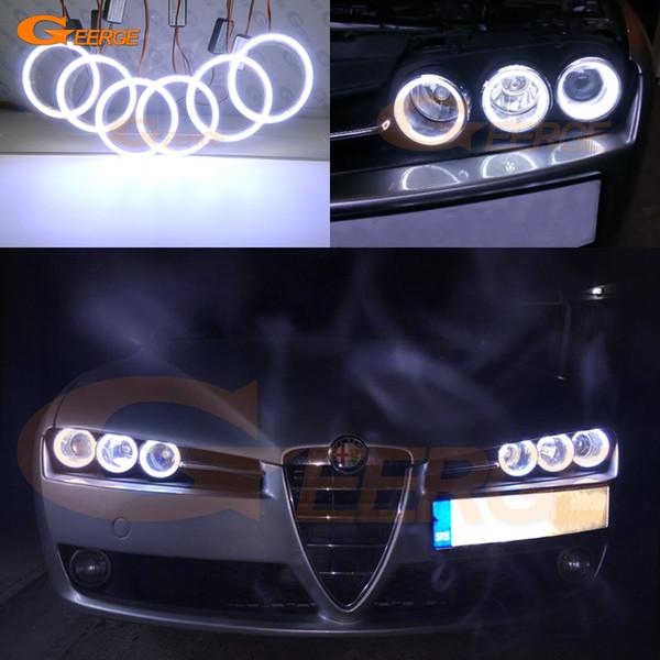 Para Alfa Romeo 159 2005 2006 2007 2008 2009 2010 2011 Excelente iluminación ultra brillante MAZORCA led kit de ojos ángel anillos de halo