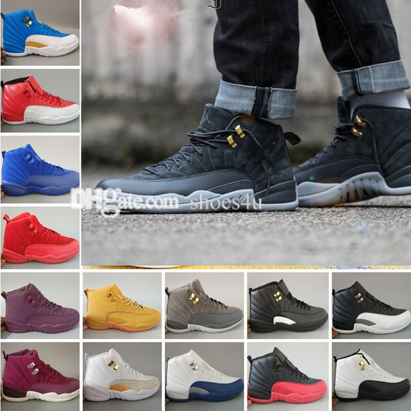 2018 air 12 Mens Basketball Shoes 12 12s TAXI Playoff BLAck Flu Game Cherry 12s XII Men Sneakers boots Free Shipping