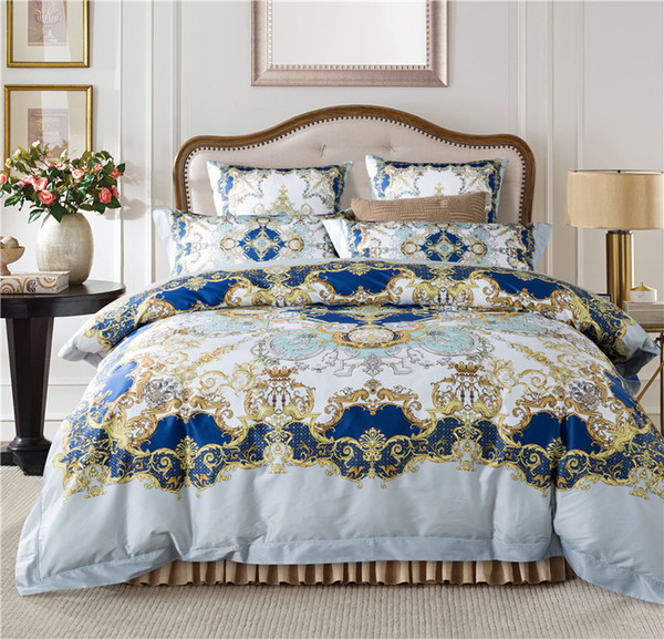 Bohemia/Mandala Bedding set Egyptian Cotton Luxury European Royal Bed set King Queen size 4Pcs Bedclothes Duvet cover Bedsheet