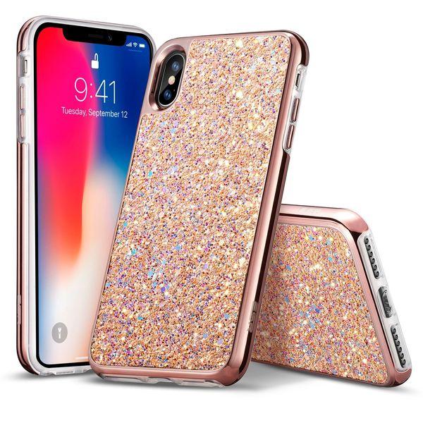 For LG Aristo 2 Stylo 3 Stylus 3 LS777 Hot Sale Brand Hybrid Defender Bling Glitter Diamond Rhinestone TPU Case Retail Opp Bag