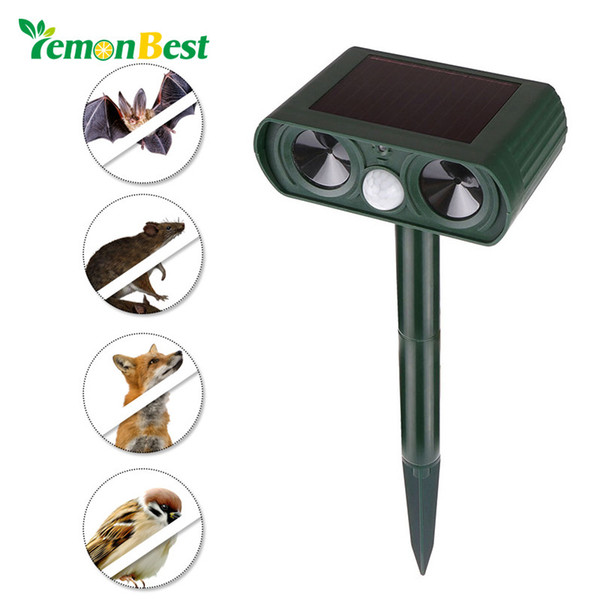 Lemonbest Outdoor Solar Ultrasonic Animal Repeller Garden Cat Dog Fox Deer Mice Repellent Garden Pest Control Ce Rohs Fcc