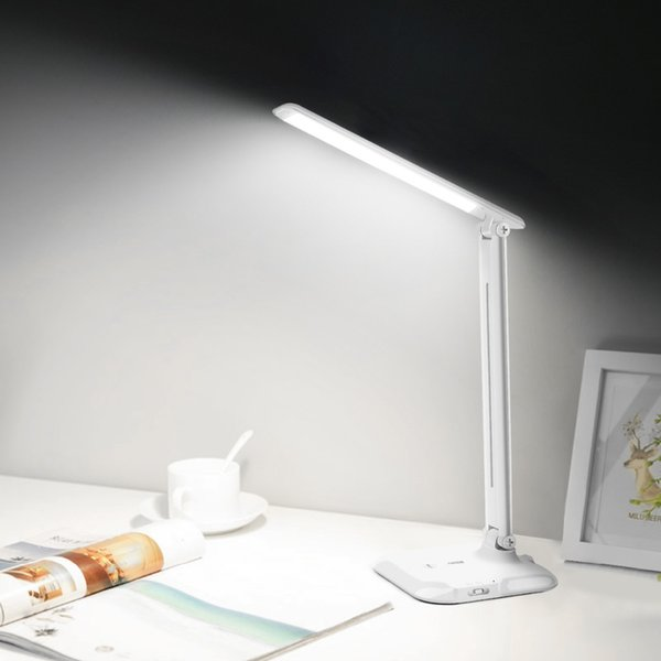 7W Rechargeable USB LED Light Desk Lamp Dimmable LED Table Lamp Touch Switch Control Reading Lamp for kids Study Reading