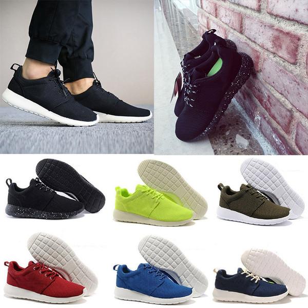 Laufschuhe Stiefel Männer Shoes Heiße Schuhe Klassische Roshe Run One Niedrige Olympische Großhandel Leichte Atmungsaktive London Schwarz Nike MpGVqSzU