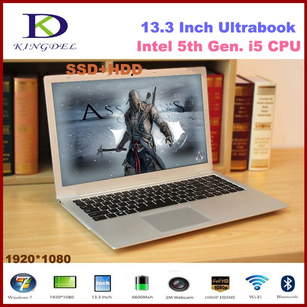 13.3'' netbook Intel Core i5 5200U Dual Core ultra slim laptop HDMI WIFI Bluetooth 8GB RAM+256GB SSD+1T HDD2.2GHz 3M Cache F200