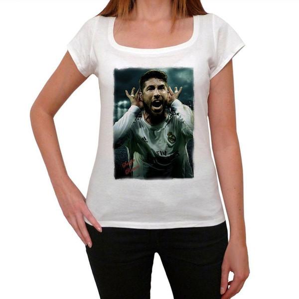 Sergio Ramos 3 Tshirt T-shirt Femme T-Shirt Imprimé T-Shirts Homme O-Neck Manches Courtes Summer Stree Twear