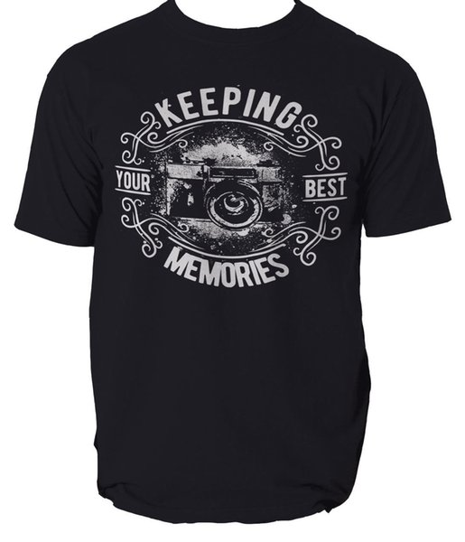 Keeping your Best Memories t shirt photography camera S-3XL Funny Tees Shirts MENS T-SHIRT Printed