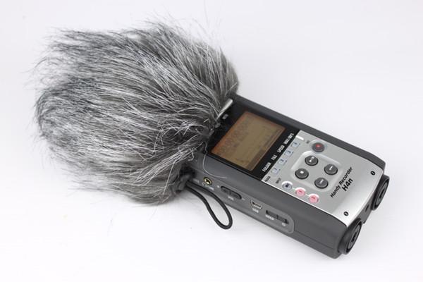 Открытый микрофон крышка,искусственный мех открытый miccrophone ветровое стекло муфта fit зум H1,лобовое стекло волос, ветер пушистый микрофон крышка