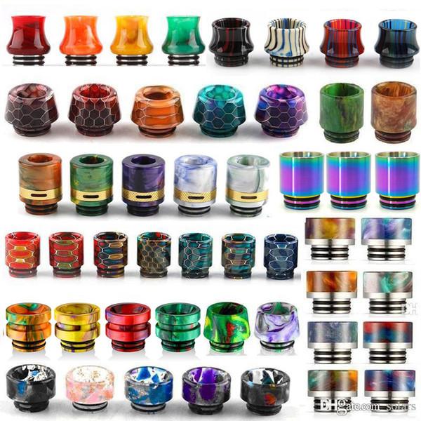 best selling 13 Types 810 Thread Resin Drip Tip Honeycomb Snake Skin Cobra Vape Rainbow Mouthpiece for TFV12 Prince TFV8 Big Baby Tanks 528 RDA