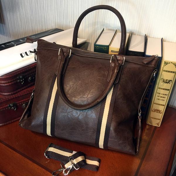 ETONWEAG Marcas de Couro Do Vintage Briefcases Homens Messenger Bags Brown Zíper Laptop Bag Estilo Inglaterra Advogado Maleta de Negócios