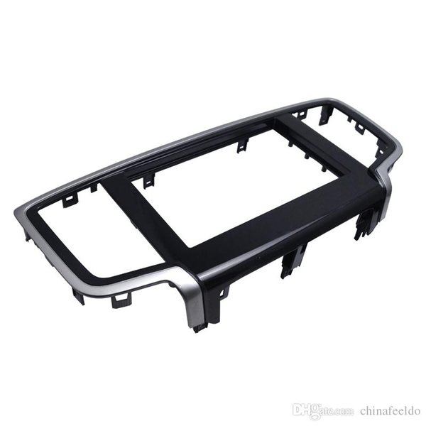 LEEWA Car 2DIN Refitting DVD Frame Panel Dash Kit Fascia Radio Audio Frame for 2014 Honda Odyssey #4065