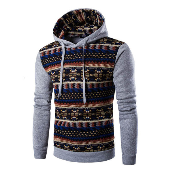 Hoodies Mens Hombre Hip Hop Male Brand Hoodie Fashion Geometric Print Sweatshirt Men Slim Fit Men Hoody XXL
