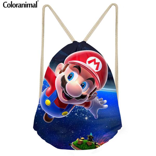 compre coloranimal 3d super mario imprimir mochila dos homens