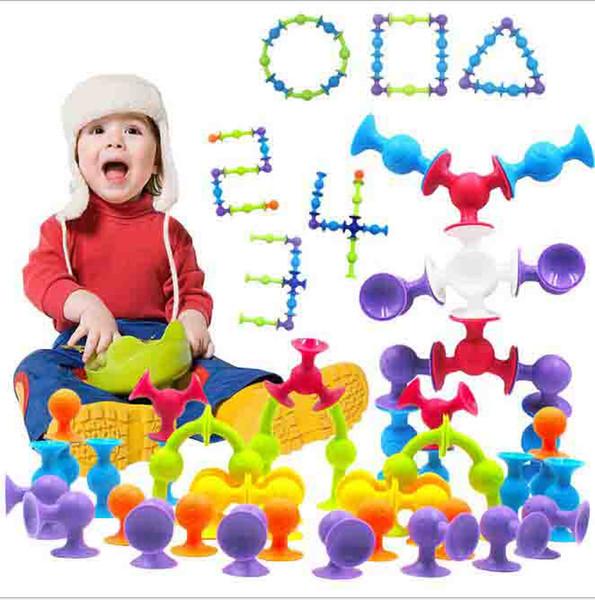 Nuevo Educational 40pcs Suction Toys Creative Building Sets Bloques de construcción para niños Deluxe Construction Toy Kit