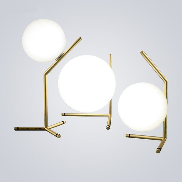 modern table lamps white Round Globe Glass Ball desk lamps Bedroom Bedside Table Lights lovely decorative Light Fixtures