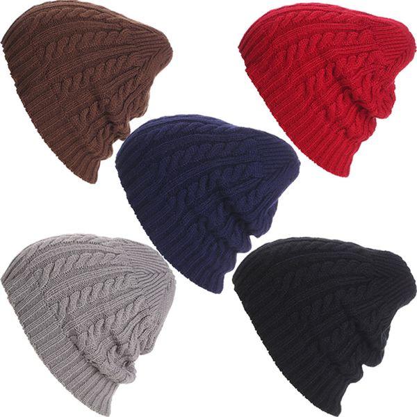 New Knitted Beanie Men Women Hats Winter Snow Skiing Caps Skullie Chunky Soft Warm Unisex Hat Beanies 88 XRQ88