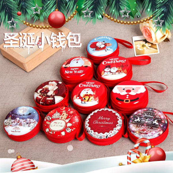 Cute Christmas Candy Boxes Bag Gifts Holders New Year Coin Earphone Snack Supplies Packaging Party Decorations For Children Dhl Free Christmas Gifts