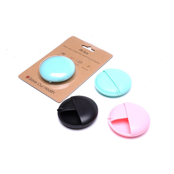 Mais novo Multi-função Colorida Caixa de Pílula Garrafa PP Material Rotary Interruptor Aberto Portátil Usos Múltiplos de Alta Qualidade Design Inovador