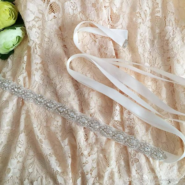 2018 HOT S28 Women's Crystal Rhinestones Bridesmaid Evening Party Gown Wedding Dresses Accessories Waistband Bridal Sashes Belts