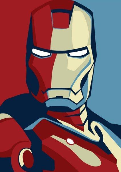 Affiche Iron Man Art en soie 24x36inch 24x43inch