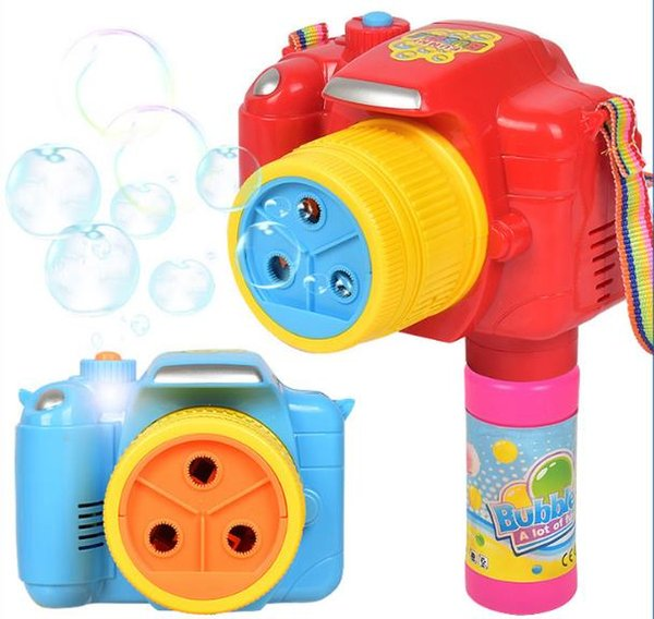 Kids Funny Outdoor / Party Bubble Gun Toy Automatic Soap Bubble Gun Colorful Soap Water Bubbles Gun Toy