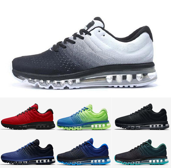 New Men Women 2017 Running Air Sports Shoes Red Black Blue Designer Trainers Tennis Jogging Walking Sneakers Size US 5.5-11